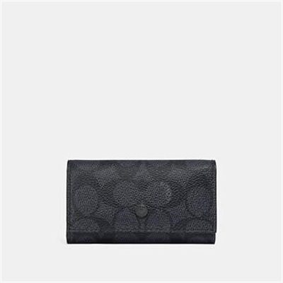 Fashion 4 Coach FOUR RING KEY CASE IN SIGNATURE CANVAS