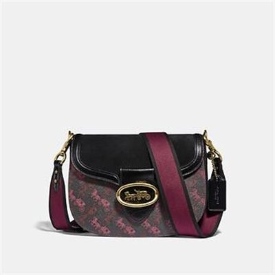 Fashion 4 Coach KAT SADDLE BAG WITH HORSE AND CARRIAGE PRINT