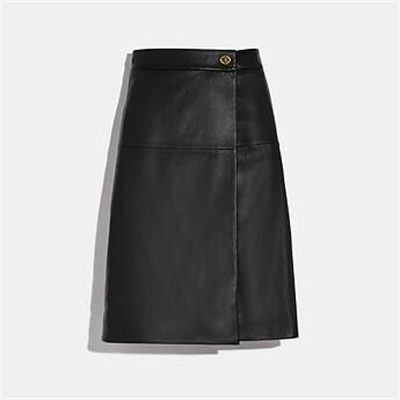 Fashion 4 Coach LEATHER SKIRT WITH TURNLOCK