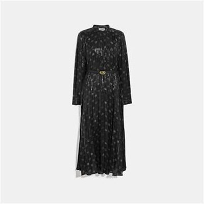 Fashion 4 Coach METALLIC DOT DRESS WITH BELT