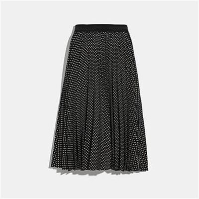 Fashion 4 Coach MICRO DOT PLEATED SKIRT