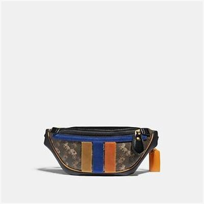 Fashion 4 Coach RIVINGTON BELT BAG 7 WITH HORSE AND CARRIAGE PRINT AND VARSITY STRIPE