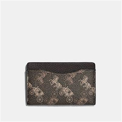 Fashion 4 Coach SMALL CARD CASE WITH HORSE AND CARRIAGE PRINT