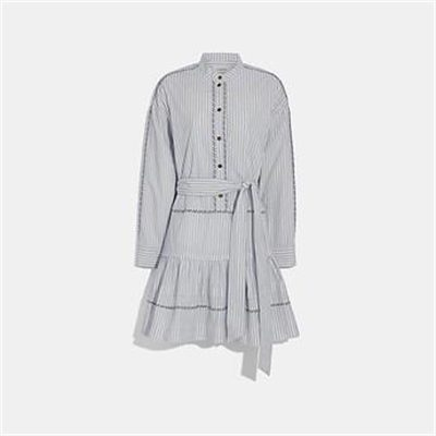 Fashion 4 Coach STRIPE SHIRT DRESS WITH BELT