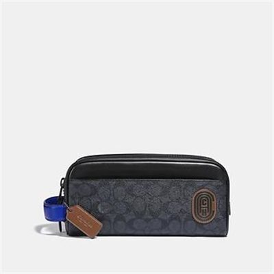 Fashion 4 Coach TRAVEL KIT IN SIGNATURE CANVAS WITH COACH PATCH