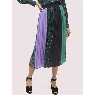 Fashion 4 - pop dots print mix skirt