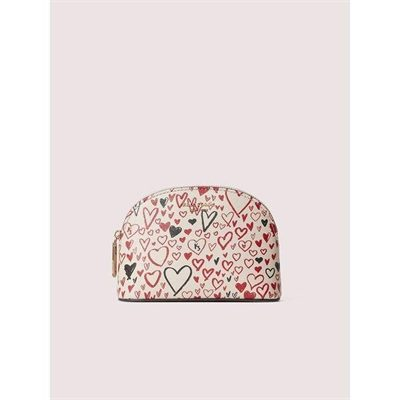 Fashion 4 - spencer heart scribbles small dome cosmetic case