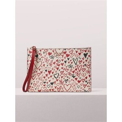 Fashion 4 - spencer heart scribbles small wristlet