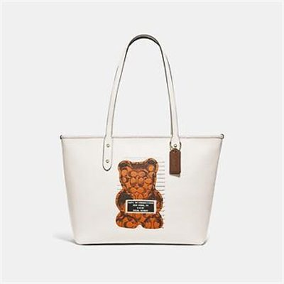 Fashion 4 Coach CITY ZIP TOTE WITH VANDAL GUMMY