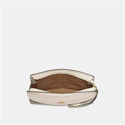 Fashion 4 Coach FLAP CLUTCH IN SIGNATURE CANVAS