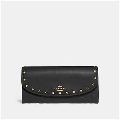 Fashion 4 Coach SLIM ENVELOPE WALLET WITH RIVETS
