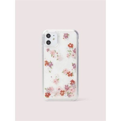 Fashion 4 - cherry blossom liquid glitter iphone 11 case