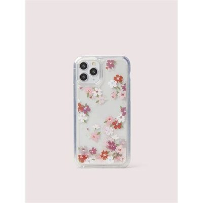 Fashion 4 - cherry blossom liquid glitter iphone 11 pro case