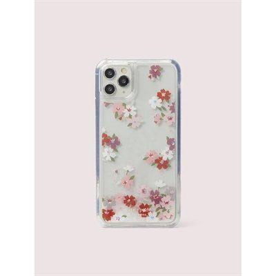 Fashion 4 - cherry blossom liquid glitter iphone 11 pro max case