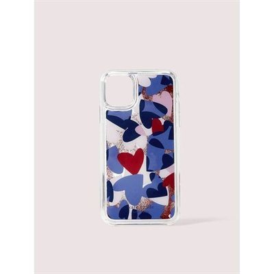 Fashion 4 - heart party liquid glitter iphone 11 case