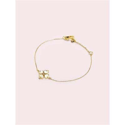 Fashion 4 - legacy logo demi fine spade flower bracelet