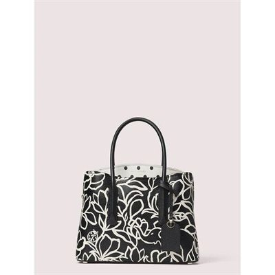 Fashion 4 - margaux embossed scribble flora medium satchel