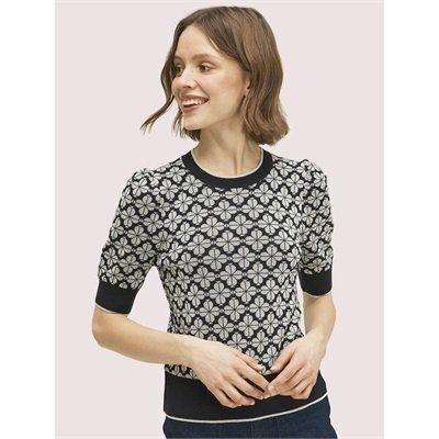Fashion 4 - spade flower puff sleeve sweater