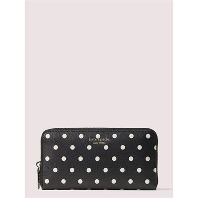 Fashion 4 - spencer cabana dot zip-around continental wallet