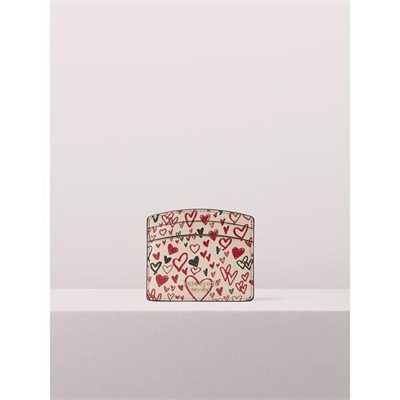 Fashion 4 - spencer heart scribbles cardholder