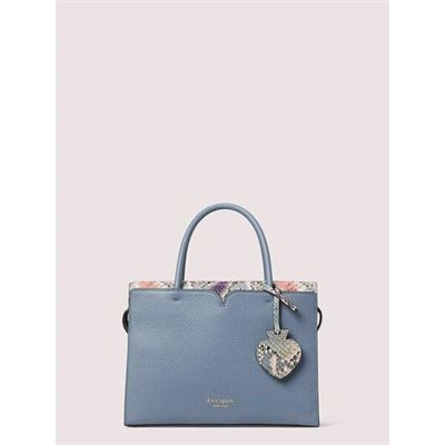 Fashion 4 - spencer snake-embossed medium satchel