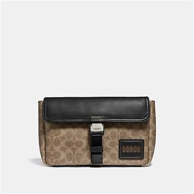 Fashion 4 Coach PACER BELT BAG CROSSBODY IN SIGNATURE CANVAS WITH COACH PATCH