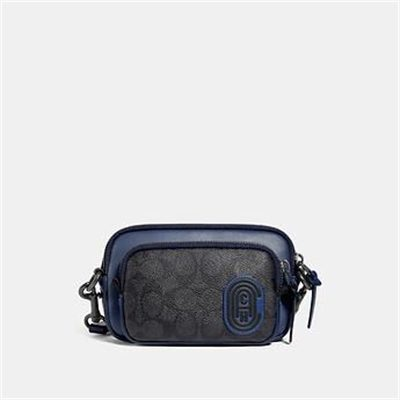Fashion 4 Coach PACER CONVERTIBLE DOUBLE POUCH IN COLORBLOCK SIGNATURE CANVAS WITH COA