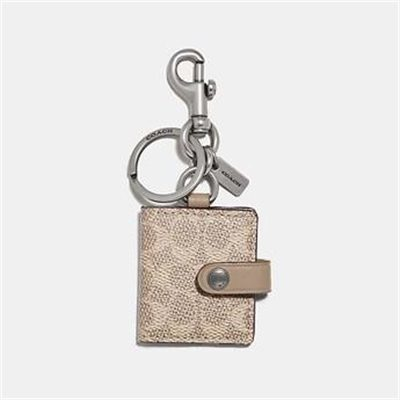 Fashion 4 Coach PICTURE FRAME BAG CHARM IN SIGNATURE CANVAS