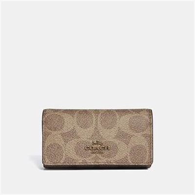 Fashion 4 Coach SIX RING KEY CASE IN SIGNATURE CANVAS