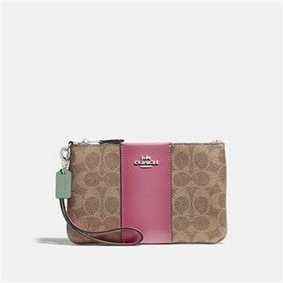 Fashion 4 Coach SMALL WRISTLET IN BLOCKED SIGNATURE CANVAS