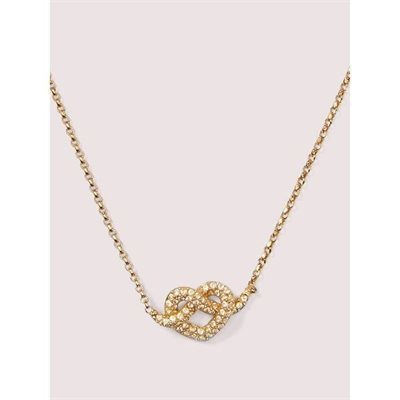 Fashion 4 - loves me knot pavé mini pendant
