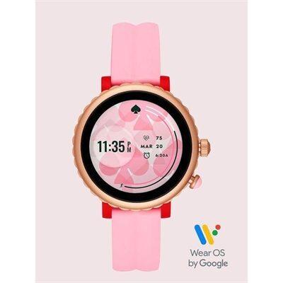 Fashion 4 - pink silicone scallop sport smartwatch