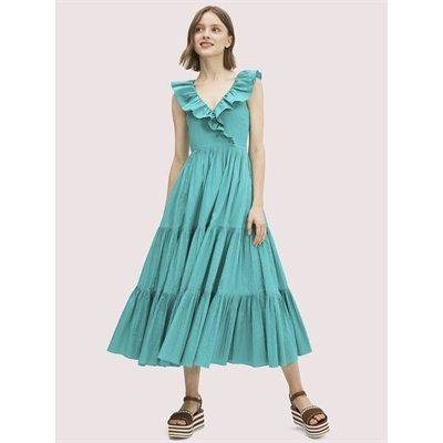 Fashion 4 - poplin ruffle tiered dress