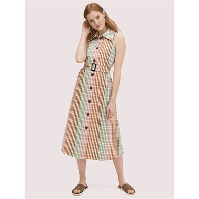 Fashion 4 - rainbow plaid shirtdress