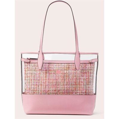 Fashion 4 - ash see-through tweed large triple compartment tote