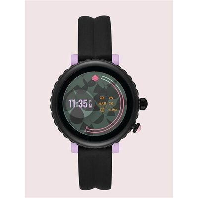 Fashion 4 - kate spade new york black silicone sport smartwatch featuring contactless payment