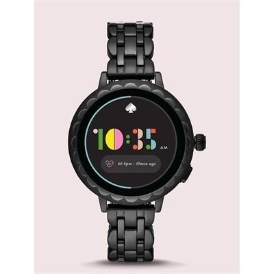 Fashion 4 - kate spade new york scallop black stainless steel smartwatch 2 featuring contactless payment