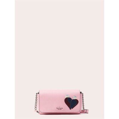 Fashion 4 - love birds small flap crossbody