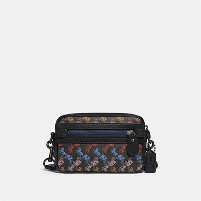 Fashion 4 Coach Academy Crossbody With Horse And Carriage Print