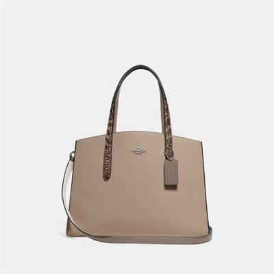 Fashion 4 Coach Charlie Carryall With Colorblock Snakeskin Detail