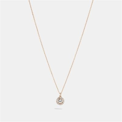 Fashion 4 Coach Halo Pave Stud Necklace