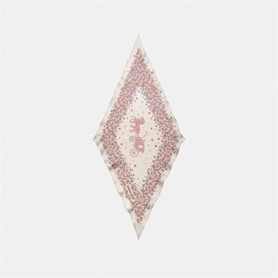 Fashion 4 Coach Horse And Carriage Tea Rose Print Silk Diamond Scarf