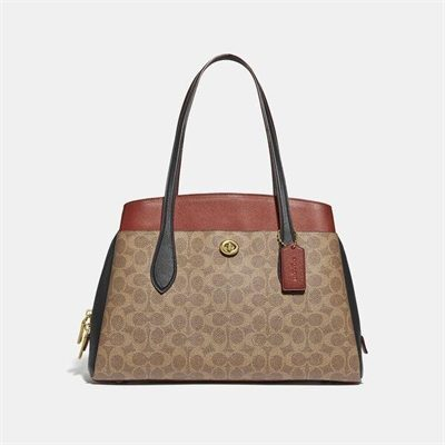Fashion 4 Coach Lora Carryall In Colorblock Signature Canvas