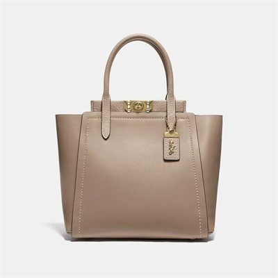 Fashion 4 Coach Mixed Leather Troupe Tote