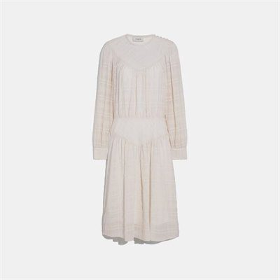 Fashion 4 Coach Plaid Yoke Dress