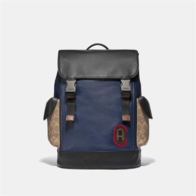Fashion 4 Coach Rivington Backpack With Signature Canvas Detail And Coach Patch