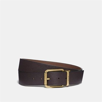 Fashion 4 Coach Roller Buckle Cut-To-Size Reversible Belt