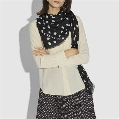 Fashion 4 Coach Signature And Floral Print Oversized Square Scarf