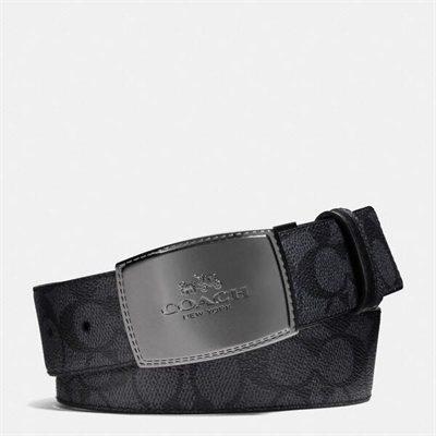 Fashion 4 Coach Stitched Plaque Cut-To-Size Reversible Belt