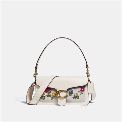 Fashion 4 Coach Tabby Shoulder Bag 26 In Signature Canvas With Floral Embroidery